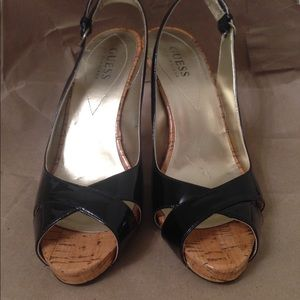 Black Patent leather Guess sandals